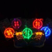 Wholesale 10pcs Fiber Optic LED Shoe LACES LASER SHOELACES NEON GLOW IN THE DARK STICK GADGET LIGHT
