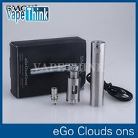 Cheap Original Smok Ego Cloud one starter kit silver with 0.5ohm 2.5ml sub ohm ECT tank build in 2200mah Passthrough battery