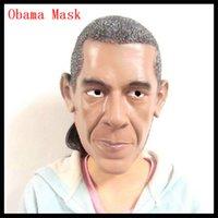 barack obama masks - U S President Barack Obama Celebrity Face Mask Latex Face Mask Obama Face Head Mask For Cosplay Funny Party Mask