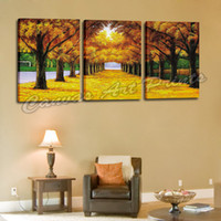 Cheap Cheap Wall Hanging Painting Panel Wall Art 3 Piece Canvas Art Painting Picture Modern Landscape Painting Framed for the Home
