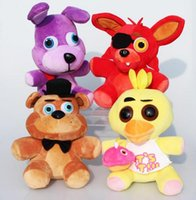 Wholesale hot sale Game Five Nights at Freddy s Plush Bonnie Foxy Freddy Chica Fazbear Fever Plush Toy Stuffed Soft Dolls For Great Gift CM