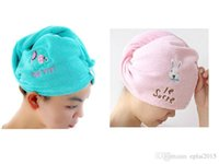 Wholesale Magic Soft Microfiber Bath Towel Hair Dry Hat Cap Quick Drying Lady Bath Tool