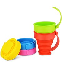 Wholesale New Outdoor travel Drinkware cup cover Creative portable silicone folding Cup compressed campaign expansion cup gargle cup for children