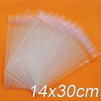 Wholesale clear Self Adhesive Seal Plastic x30cm opp bag poly bag