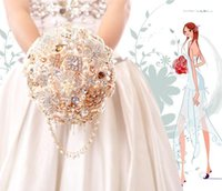 beautiful waterfalls - 2016 Brooch Waterfall Wedding Bouquet The Simulation Wedding The Bride Bouquet Beadwork Beautiful Beaded And Crystals