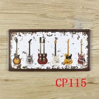 Wholesale CP115 Guitar Vintage Metal Tin Signs Bar Pub Cafe Home Art Metal Signs Size about cm