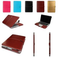 Wholesale Premium Leather Smart Holster Protective Sleeve Laptop bag for MacBook Air Pro Retina Inch macbook case