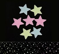 Wholesale Hot Sales Fluorescent light Decor Stickers GLOW in the Dark Space Wall Ceiling Star CX221