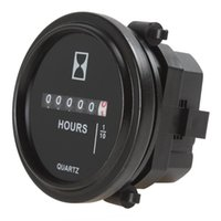 dc electronic meter - 2 Inch DC V Round Hour Meter Industrial Electronic Mechanical Timer for Race Car Fork Lifts Trucks Boats CEC_900