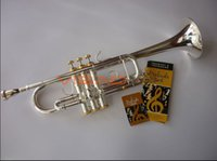 Wholesale Senior Silveriness Bach trumpet C180 Small musical instrument professional trumpet grade