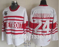 better cotton - Factory Outlet Better seller Detroit Red Wings Bob Probert Jersey th Anniversary Patch White Alternate Vintage Throwback Hockey
