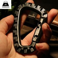 Wholesale 1x D Ring Black Strong Carabiner Snap Tactical Outdoor EDC Tool Backpack Accessory Climbing Accessories Carabiner Clip