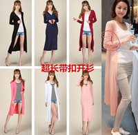 air conditioner sizes - Summer women s plus size modal candy color medium long long sleeve sun air conditioner shirt cardigan