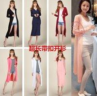 air conditioner shirt - Summer women s plus size modal candy color medium long long sleeve sun air conditioner shirt cardigan