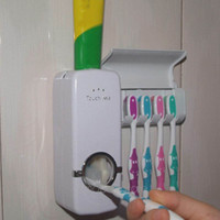 Wholesale New Hot Sale Automatic Toothpaste Dispenser Toothbrush Holder Set Wall Mount Stand toothbrush Family Sets