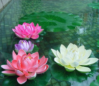 artificial pond plants - Artificial Flowers EVA Foam Water Lily Lotus Simulation Replica Pond Waterlily Colorful Perfect Decoration Baptism Wedding Party Decoration