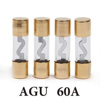 Wholesale In Stock Car AGU Glass Fuse Gold Plated AMP A For Car Audio
