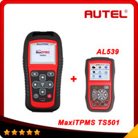 automotive tyres - 100 Original Autel MaxiTPMS TS501 TPMS Tool with OBDII Adapters Tyre Pressure Monitoring System TPMS Relearn AL539 As Gift