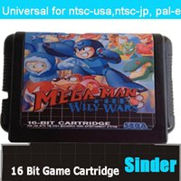 Wholesale New classical bit md game card for bit game console megaman the wily wars rockman mega world