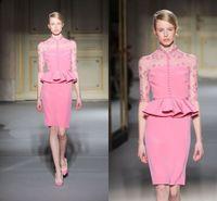 Cheap Reference Images Short evening dresses Best High Neck Satin Short Formal dresses