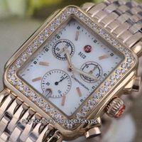 michele watch - Michele Deco rhinestone Yellow Gold Rose Gold Fashion Casual Chronograph Quartz wristwatches women diamond watch