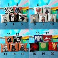 Wholesale DHL Designs Star Wars Pillow Case NEW Cartoon D stripe Covers Cushion Covers Linen Christmas Pillow B cm