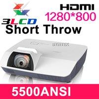 Wholesale 1280x800 WXGA Outdoor Daylight Rear Computer Digital P Video LCD Ultra Short Throw inch ANSI D Projector HD