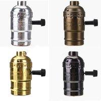 Wholesale 1PC Switch Off Vintage Industrial Lamps Pendants way Knob E27 Edison Lamp Base Socket Holder Colors Choosing order lt no tr