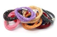 Wholesale New fashion Stardust Bracelet Brand Women Crystal Wrap Wristband Rhinestone shangrila Magnetic buckle bracelets bangles freeshipping