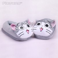 Wholesale Anime Cartoon Chi s Sweet Home Lovely Cat Animal Plush Shoes Home House Winter Slippers for Children Women Kids Slippers ANSE043
