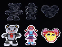 Wholesale Pieces PegBoards for mm Perler Beads Hama Beads Fused Beads Patterns Clear Peg Board