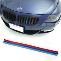 achat en gros de x tr-1pc 20 x 0.5cm M SPORT 3 COLOR style de voiture de face bande réfléchissante sticker VINYL REIN GRILLE DE BMW M3 E39 E46 E90 petite commande pas tr