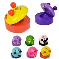 Wholesale 2015 New Arrival Music Wooden Castanets Instruments For Kids Gift Cute Cartoon Shaped Castanets Kids Toys