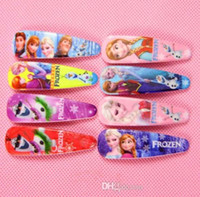 Wholesale 2015 In Stock Frozen Elsa Anna Olaf Hair Clip Hair Accessories Children Girl Hairpins cm Mixed Colors