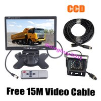 Wholesale 12V V quot LCD Monitor Bus Truck Van Rear View Kit Pin IR CCD Car Reversing Camera with M Cable Waterproof