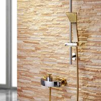 Wholesale Luxury Wall Mounted Shower Mixer Bath Faucet in with Sliding Bar