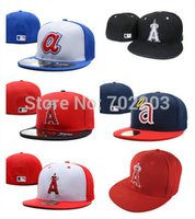 anaheim - Los Angeles Angels MLB Baseball Cap D Embroidery Logo LA of Anaheim Cooperstown Fitted Hats