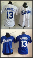 los angeles - women los angeles dodgers hanely ramirez Cheap Wholesales Baseball Jersey Embroidery Name and Logo EME DHL