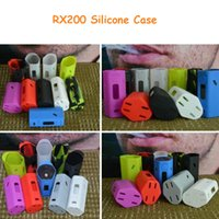 Wholesale RX200W Silicone Case Silicon Cases Bag Colorful Rubber Sleeve Protective Cover Skin For Wismec Reuleaux W RX200 TC RX Box Mod Retail