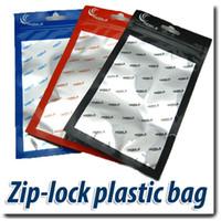 Wholesale 18 cm Zipper Clear Aluminum Foil Plastic Retail Package Ziplock Poly Opp Bag For iPhone Samsung Protect Cases Cellphone Repair Parts