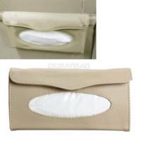 Wholesale Interior Accessories Ornaments Paper Towel Napkin Holder Box Tissue Case Cover for Car Sun Visor gib