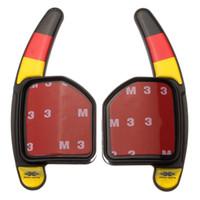 audi tt windshield - 2pcs set Steering Wheel DSG Paddle Extension Shifters Shift Car Sticker Decoration for AUDI A3 A4 A5 A6 A8 Q5 Q7 TT order lt no track
