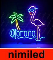 Wholesale New Corona Extra Pink Flamingo Real Glass Neon Light Sign Home Beer Bar Pub Recreation Room Game Room Windows Garage Wall Sign HSA1746