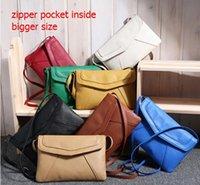 Wholesale Fashion Envelope Small Women s leather Handbags Messenger bags Cross body Crossbody Shoulder bags Ladies Vintage Bolsas Satchel