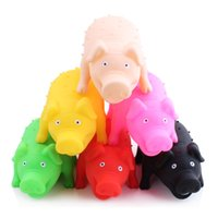 Wholesale 3pcs colorful new design pet dog cat toy pig Sound doll