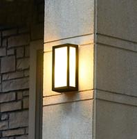 al por mayor lámpara de pared al aire libre balcón-Creativas lámparas de pared al aire libre impermeable al aire libre balcón terraza jardín lámparas Retro lámparas de pared Patio aplique de pared