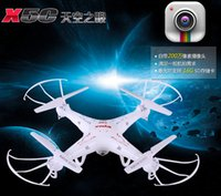 Wholesale RC Helicopter Syma X5C Quadcopter G Axis UFO Mega Pixel Drone With Camera and Degrees Helicopters Toy LED Quadcopter A486L