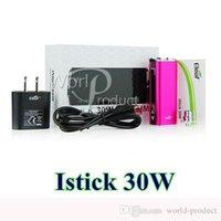 Cheap istick 30W full kit vv vw mod 2200mAh istick e cigs OLED Display huge vapor best device with EU US plug cheapest hot selling 002736