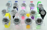 acrylic packaging watch - Student LED Watch multifunction years colorful children water proof electron watches Time Date Week package