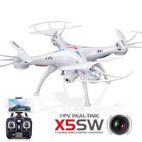 Wholesale Wifi Control Drone FPV Quad Helicopter Degrees and D Fly G Controller CH Drone Professional FPV Camera Drone Syma X5SW